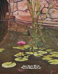 Fairchild Waterlily Pool painting