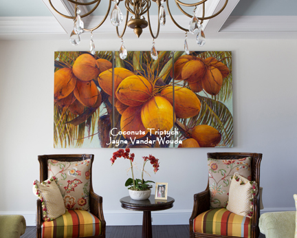 Coconuts Triptych painting